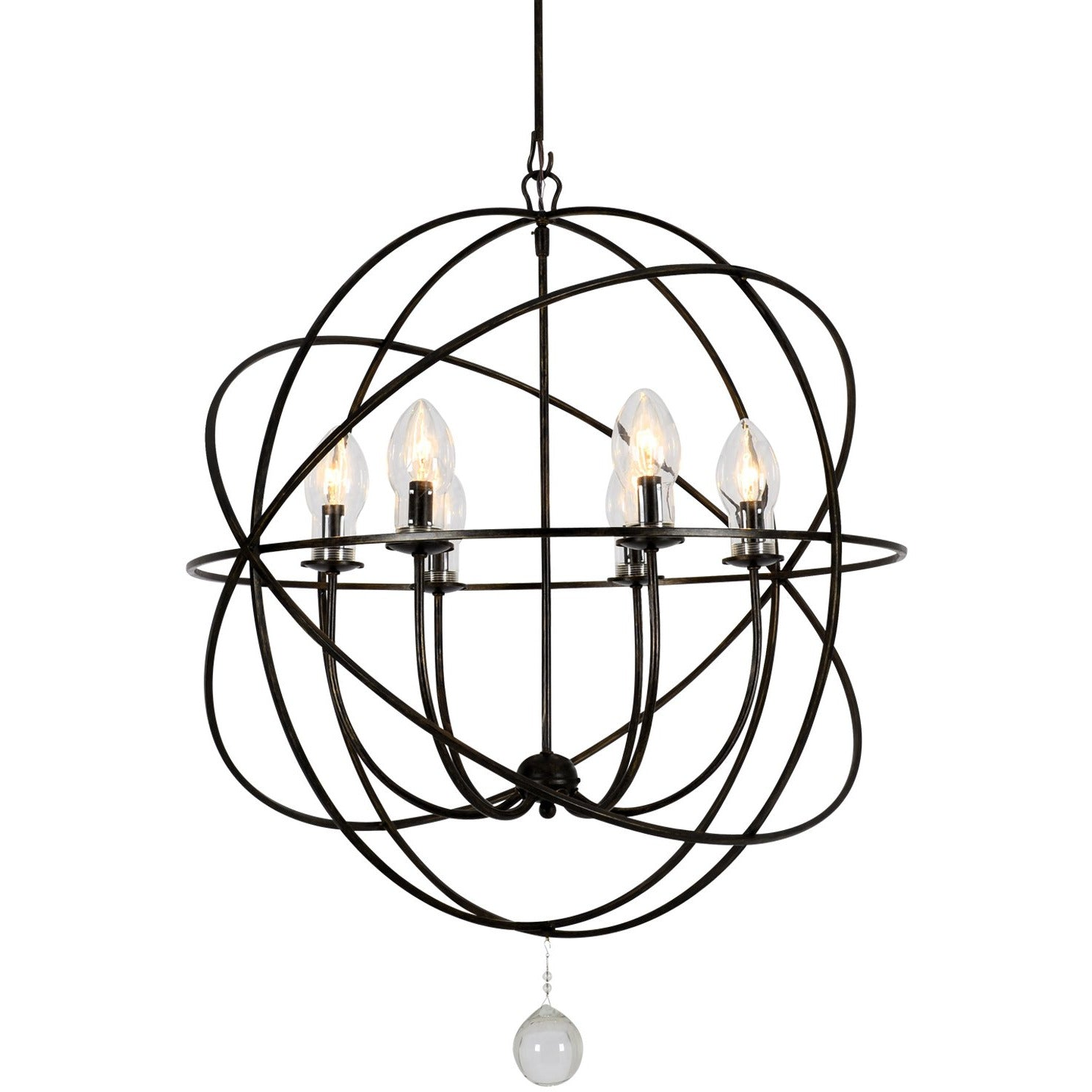 Crystorama - SOL-9328-EB - Six Light Outdoor Chandelier - Solaris - English Bronze