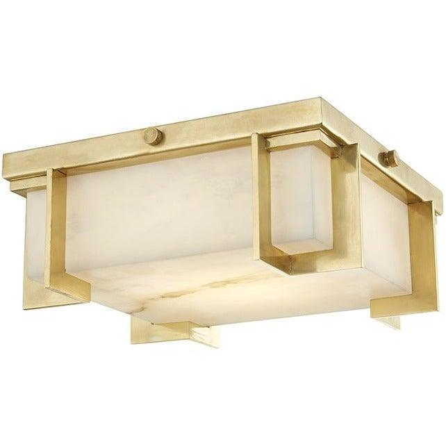 Hudson Valley - 3910-AGB - LED Flush Mount - Delmar - Aged Brass