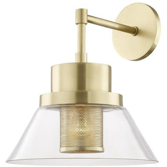 Hudson Valley - 4030-AGB - One Light Wall Sconce - Paoli - Aged Brass