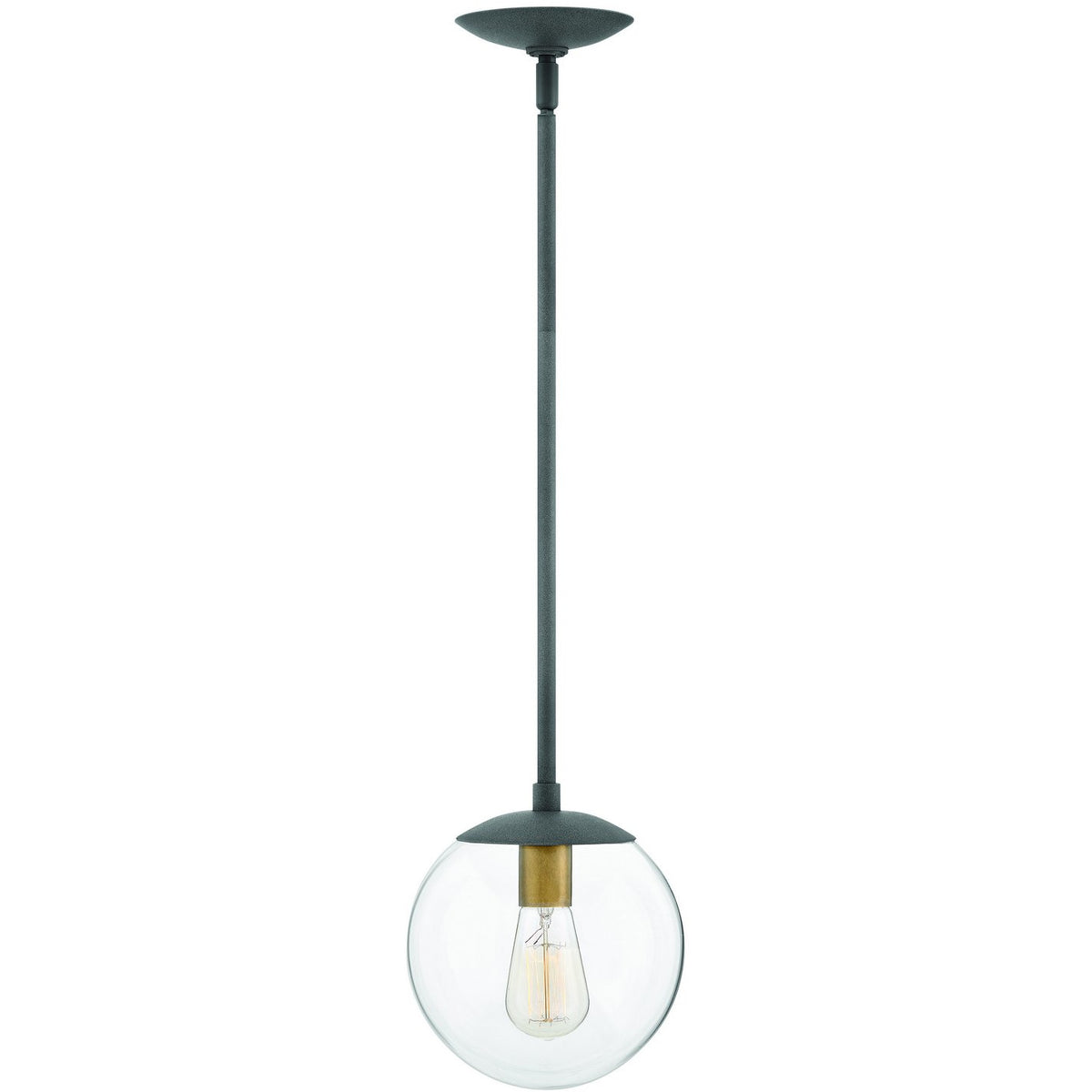 Hinkley Canada - 3747DZ - One Light Pendant - Warby - Aged Zinc