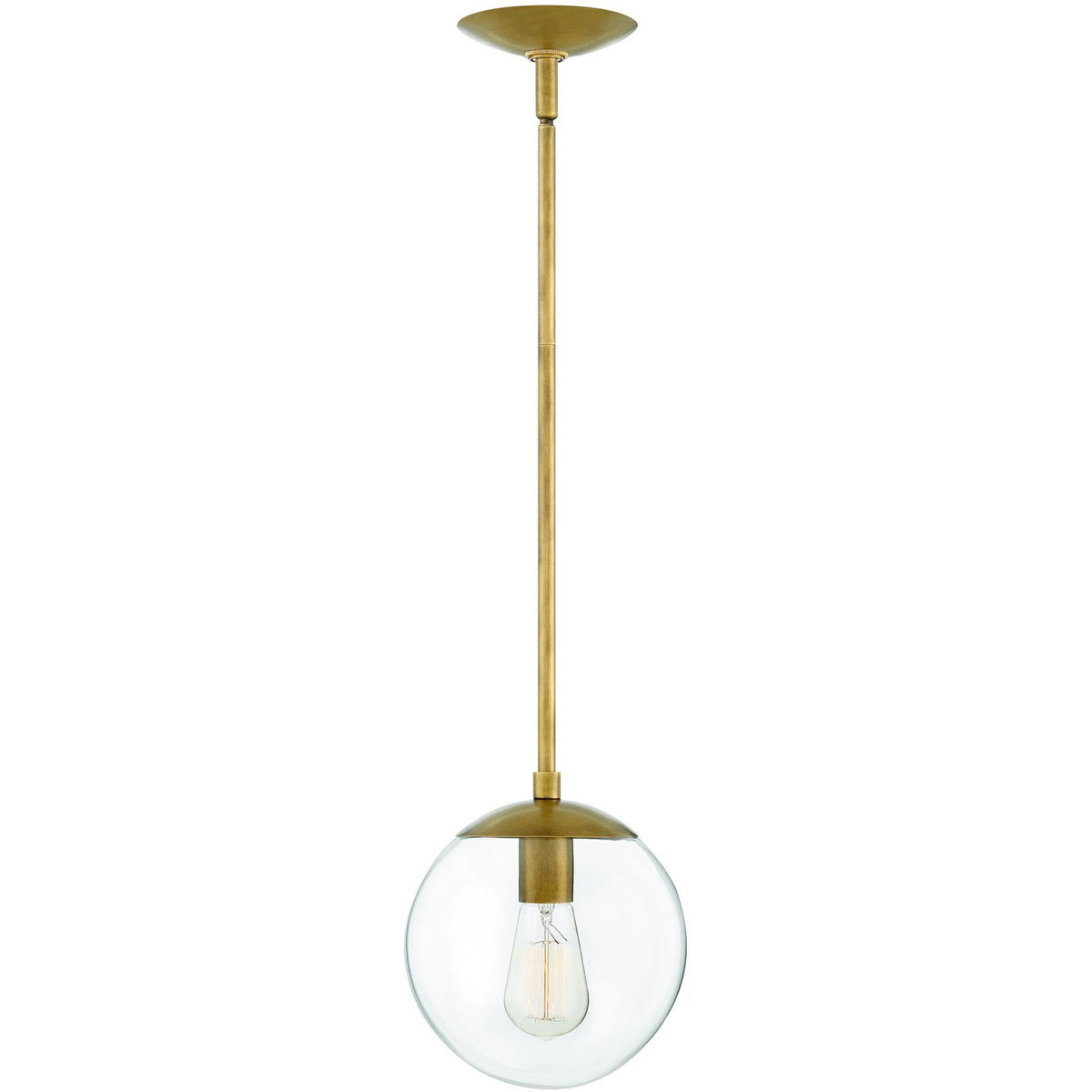 Hinkley Canada - 3747HB - One Light Pendant - Warby - Heritage Brass