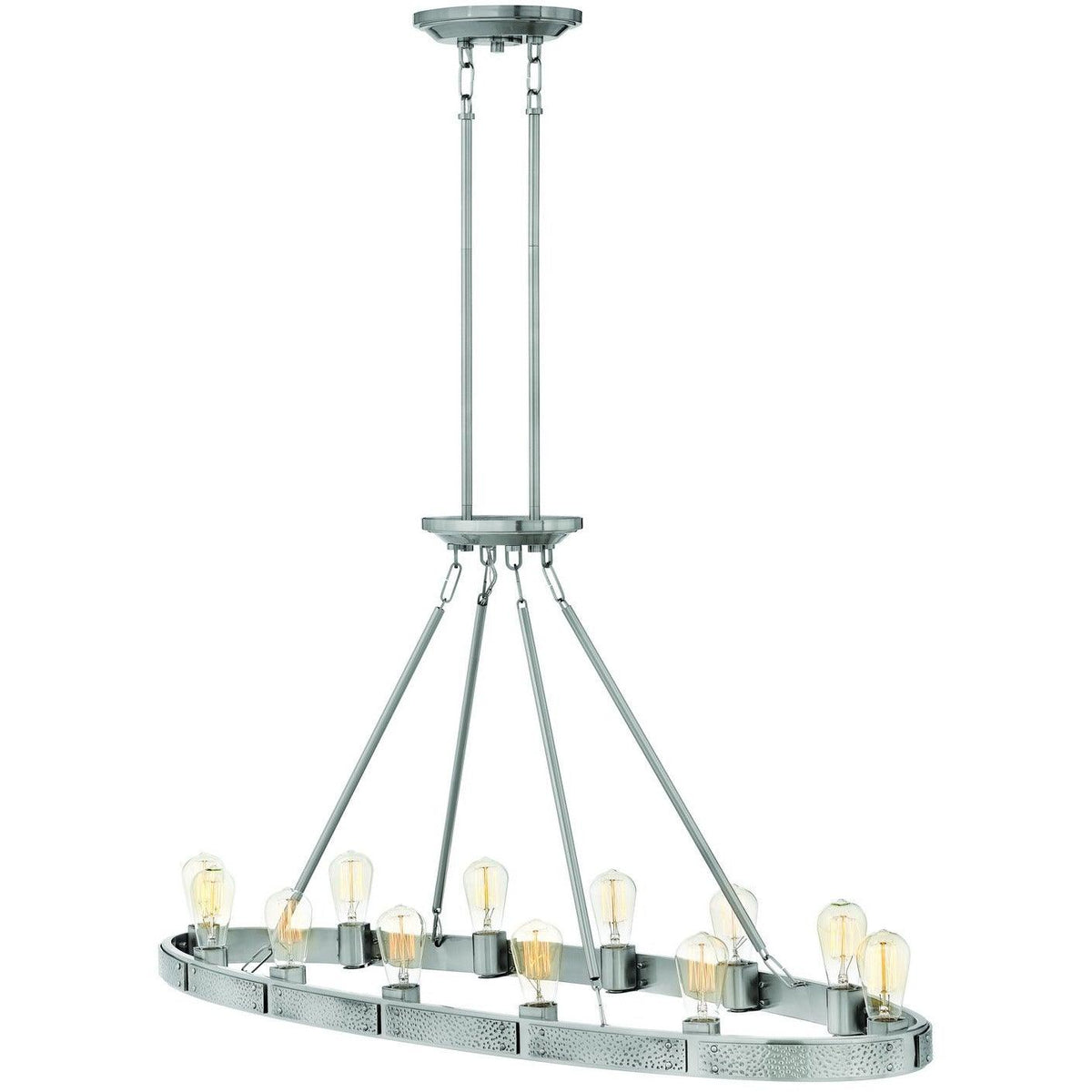 Hinkley Canada - 4396BN - 12 Light Linear Chandelier - Everett - Brushed Nickel