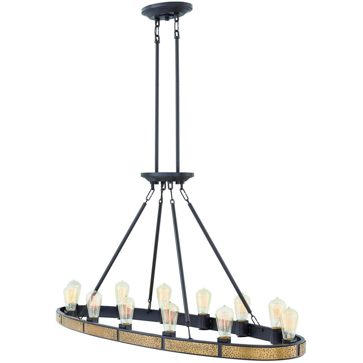 Hinkley Canada - 4396BZ - 12 Light Linear Chandelier - Everett - Bronze