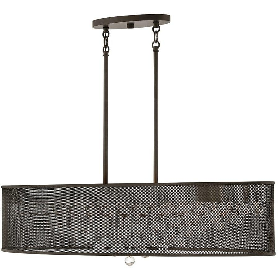 Fredrick Ramond Canada - FR38902BLK - Eight Light Chandelier - Fiona - Black