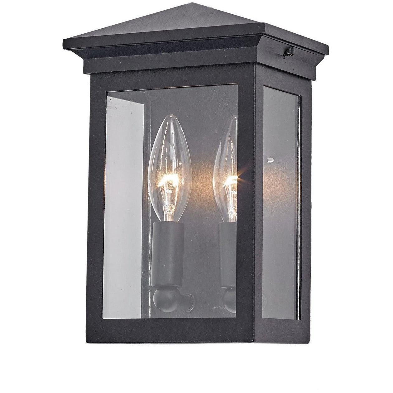 Artcraft Lighting - AC8160BK - Two Light Outdoor Wall Mount - Gable - Black