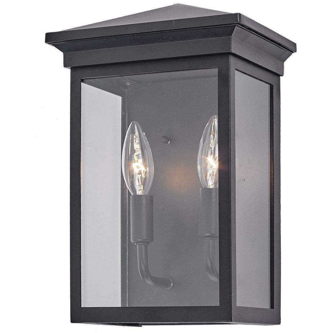 Artcraft Lighting - AC8161BK - Two Light Outdoor Wall Mount - Gable - Black
