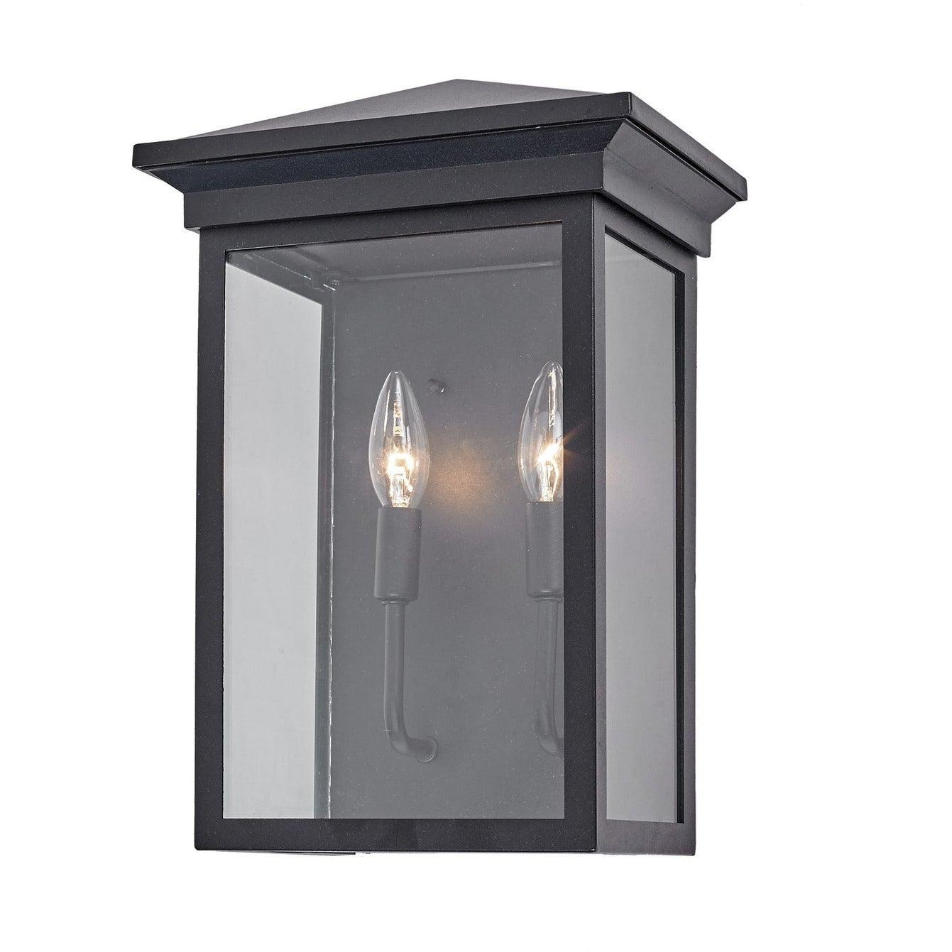 Artcraft Lighting - AC8462BK - Two Light Outdoor Wall Mount - Gable - Black
