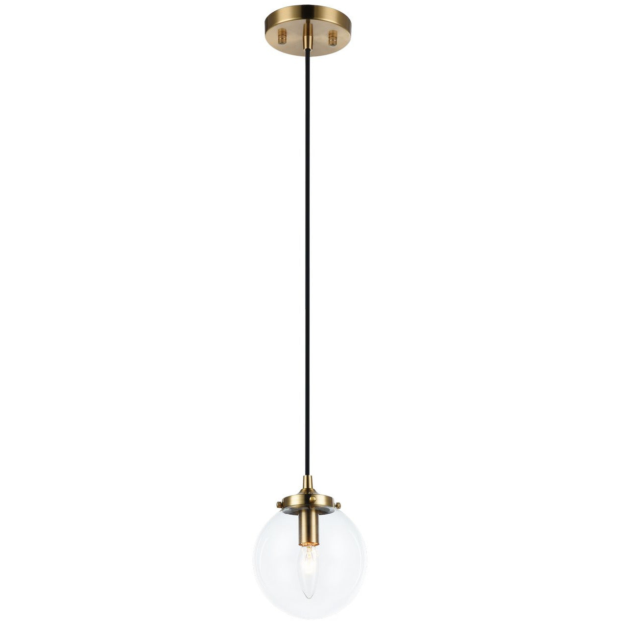 Matteo Lighting - C63001AGCL - Pendant - The Bougie - Aged Gold Brass