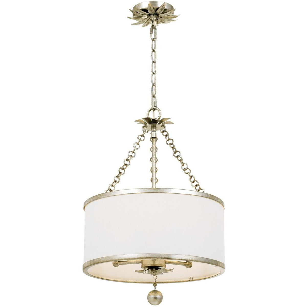 Crystorama - 513-SA - Three Light Chandelier - Broche - Antique Silver