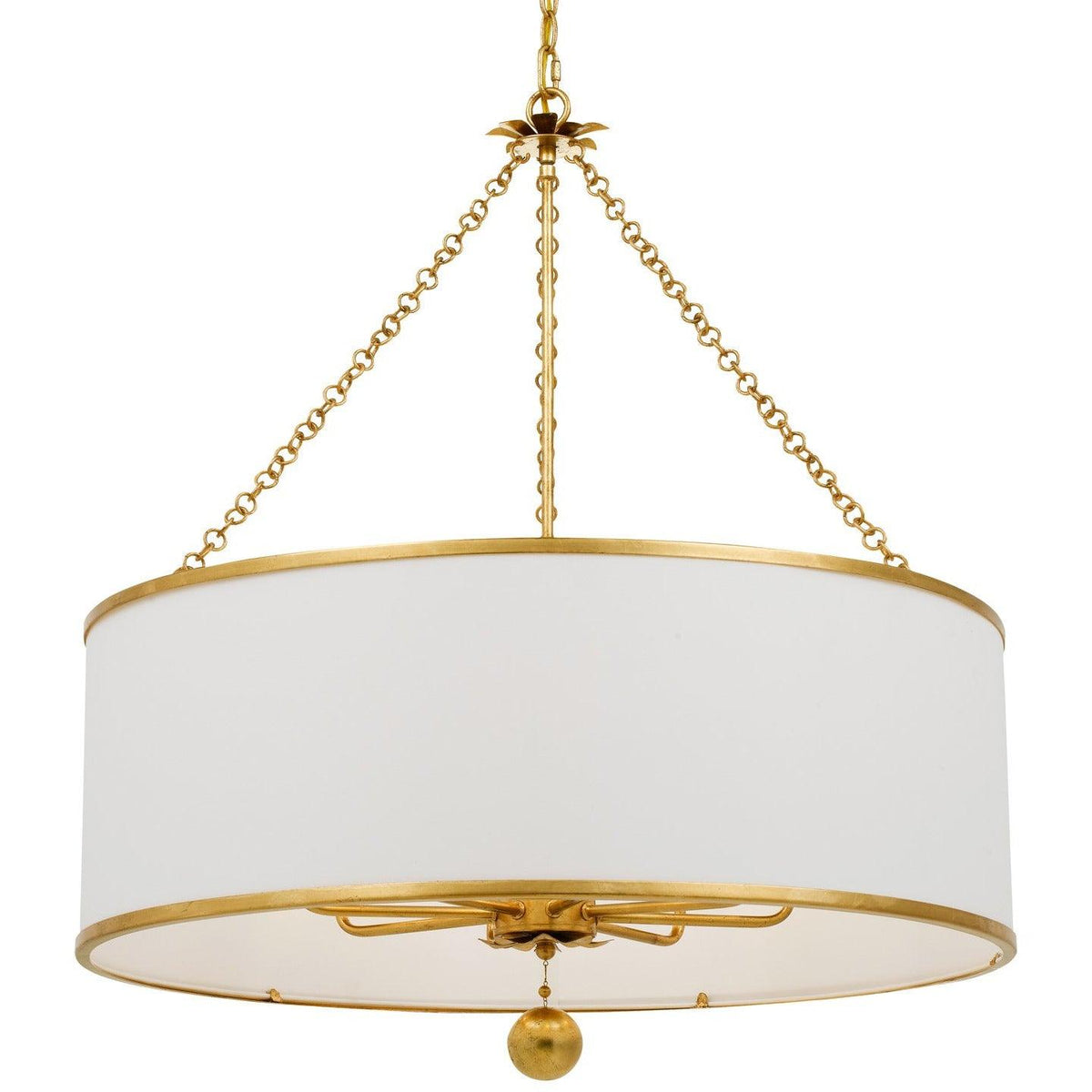 Crystorama - 515-GA - Eight Light Chandelier - Broche - Antique Gold