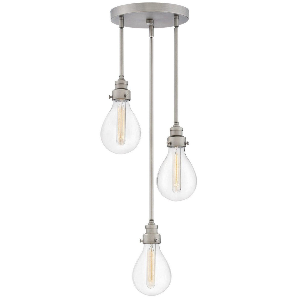 Hinkley Canada - 3263PW - Three Light Pendant - Denton - Pewter