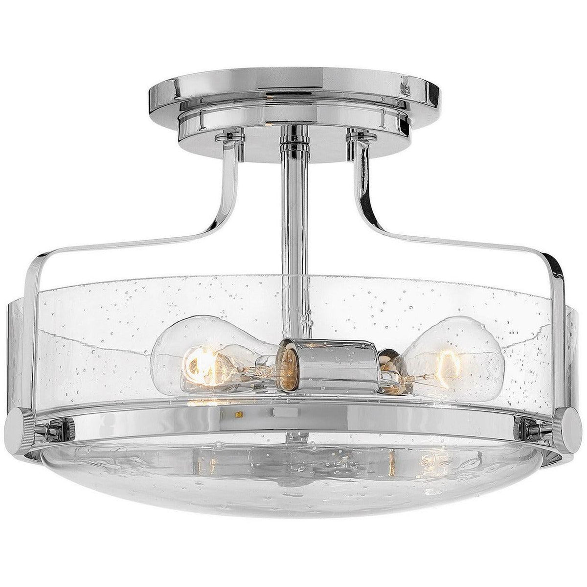 Hinkley Canada - 3641CM-CS - Three Light Semi-Flush Mount - Harper - Chrome With Clear Seedy Glass
