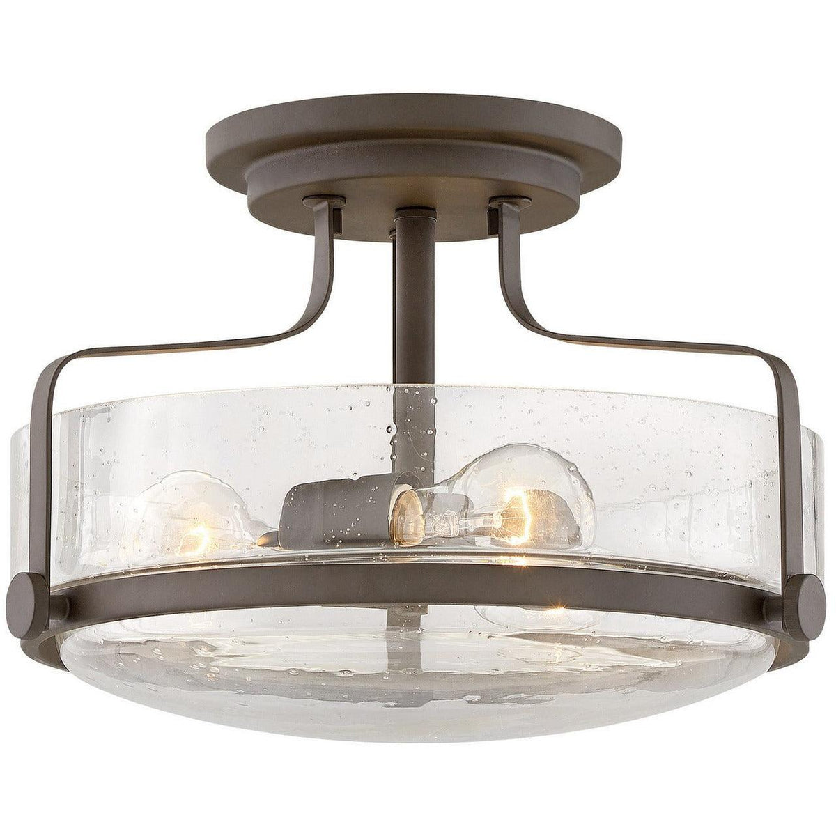 Hinkley Canada - 3641OZ-CS - Three Light Semi-Flush Mount - Harper - Oil Rubbed Bronze With Clear Seedy Glass