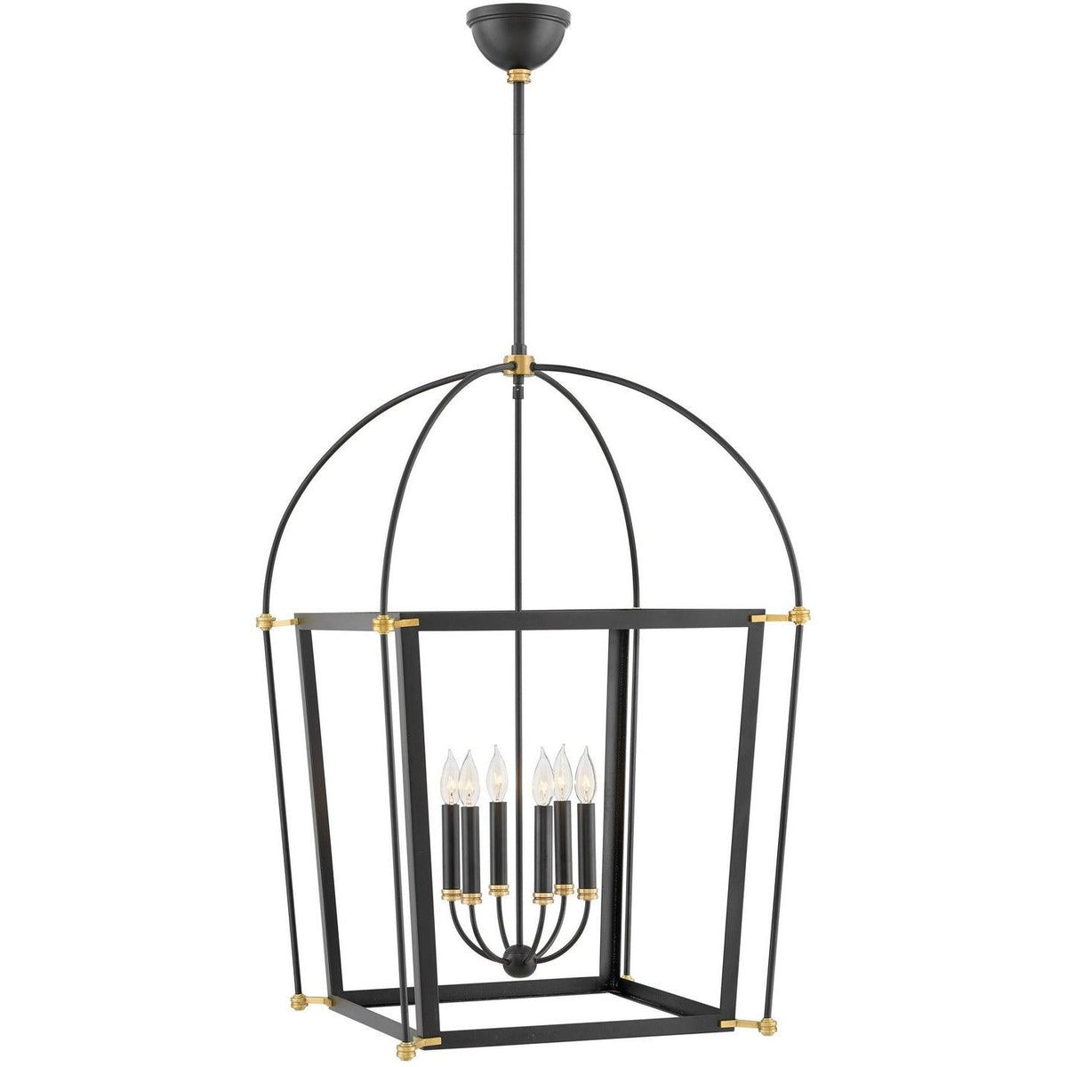 Hinkley Canada - 4056BK - Six Light Pendant - Selby - Black