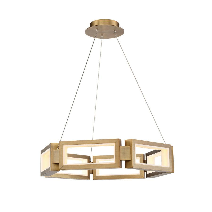 Modern Forms Canada - PD-50829-AB - LED Chandelier - Mies - Aged Brass