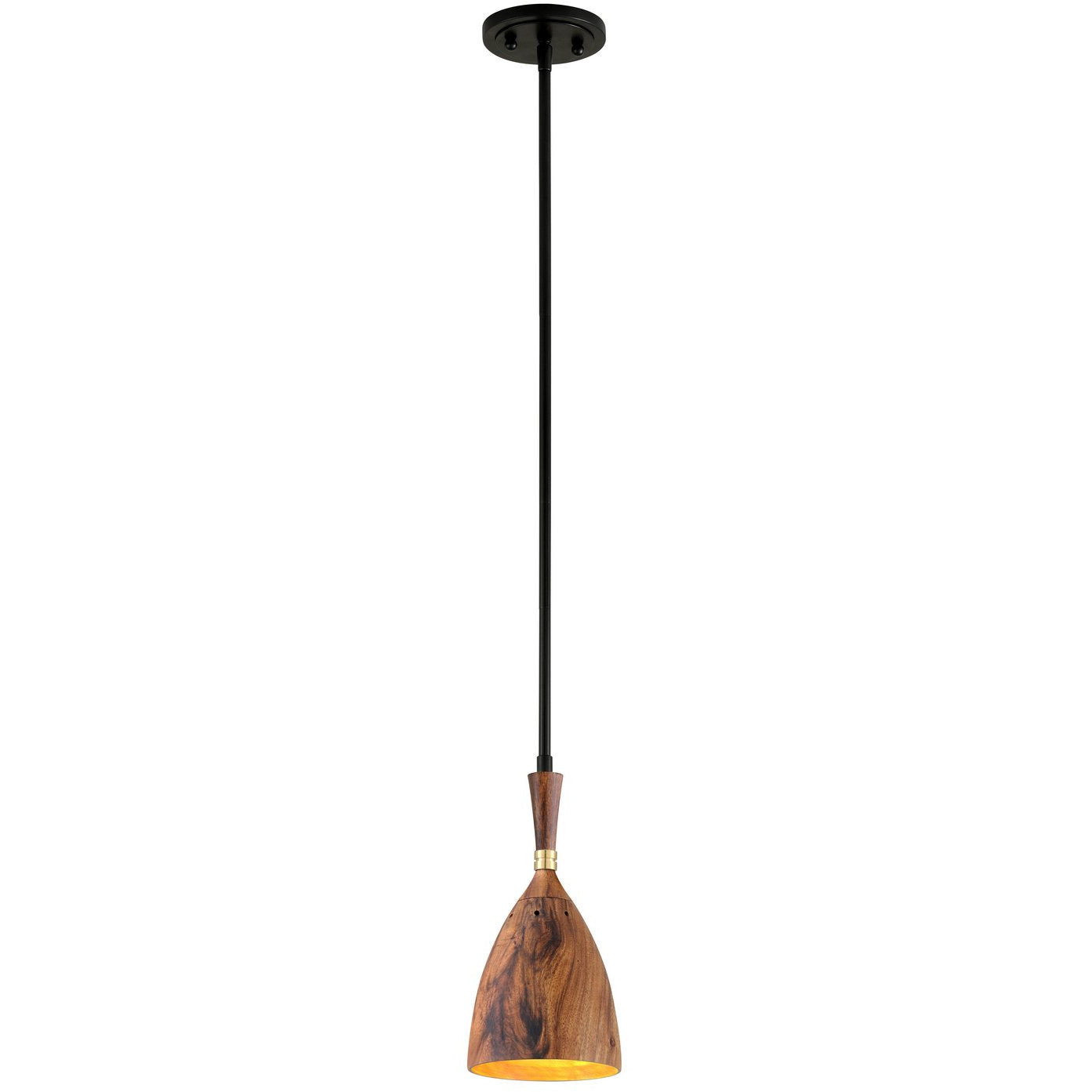Corbett Lighting - 280-41 - Pendant - Utopia - Black Brass Acacia Wood Shades - Martyn Lawrence Bullard