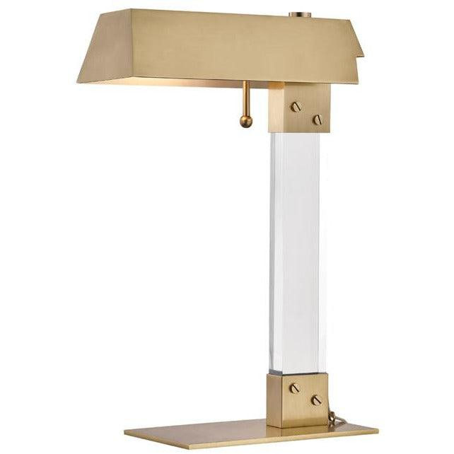 Hudson Valley - L1256-AGB - One Light Table Lamp - Hunts Point