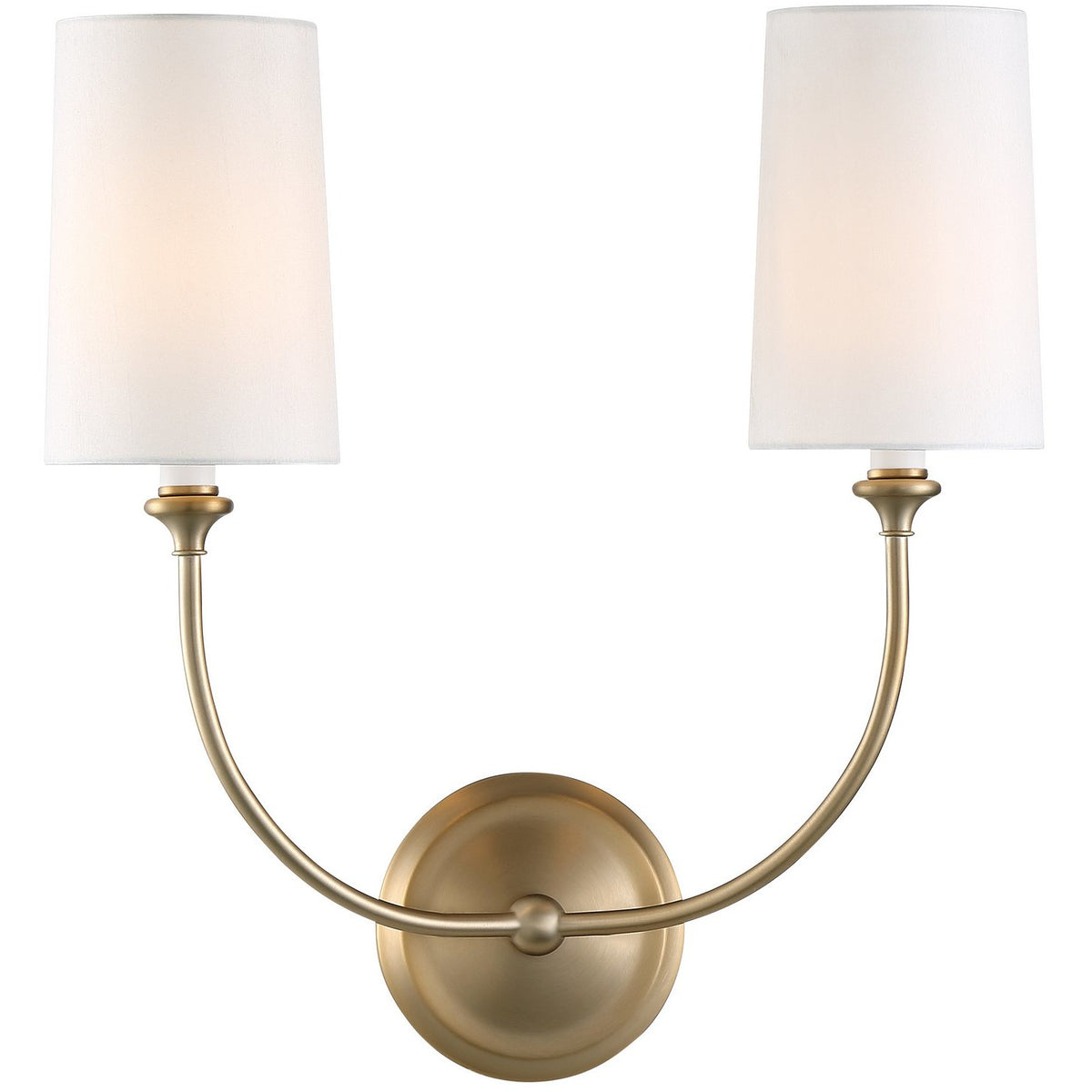 Crystorama - 2242-VG - Two Light Wall Mount - Sylvan - Vibrant Gold