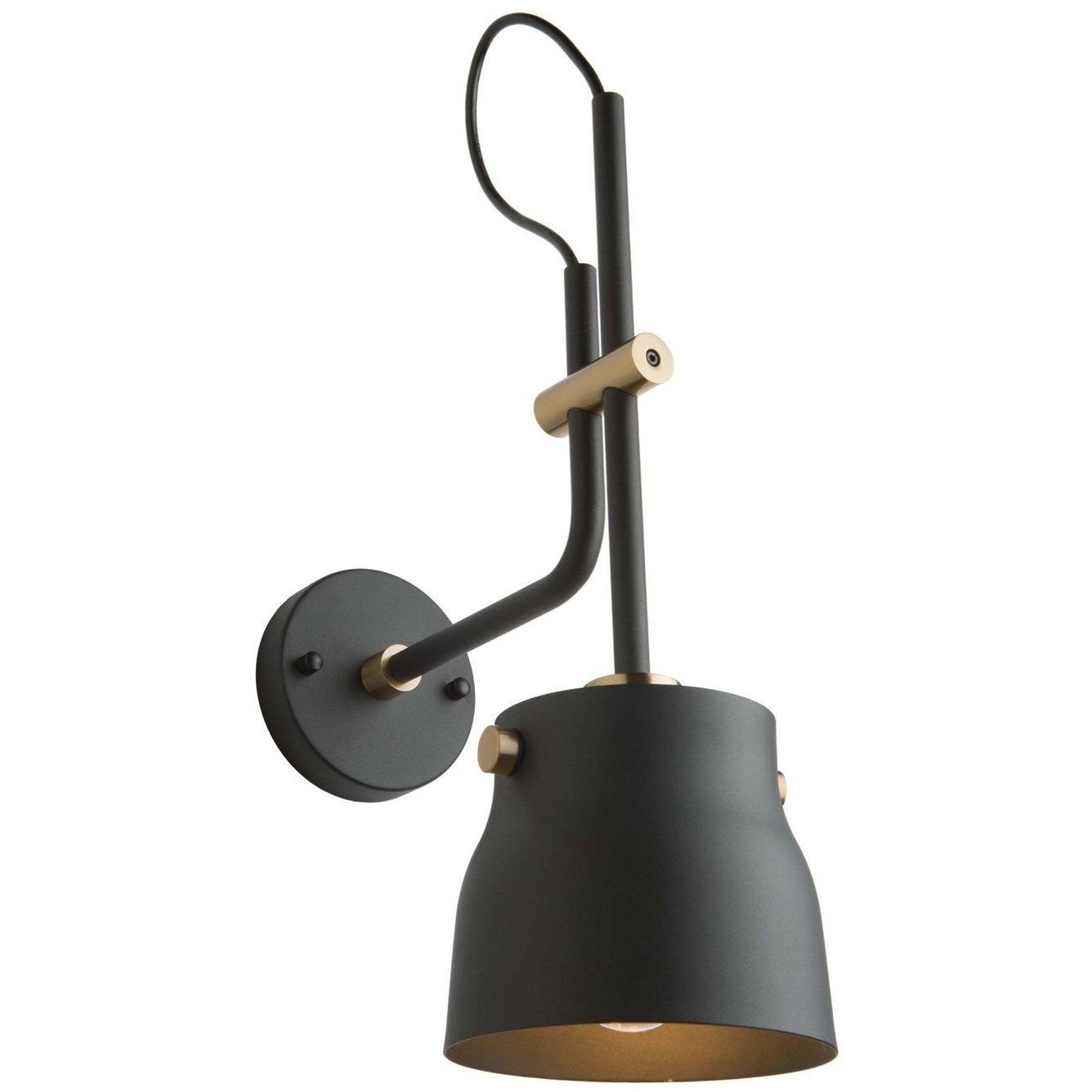 Artcraft Lighting - AC11367VB - One Light Wall Sconce - Euro Industrial - Matte Black & Harvest Brass