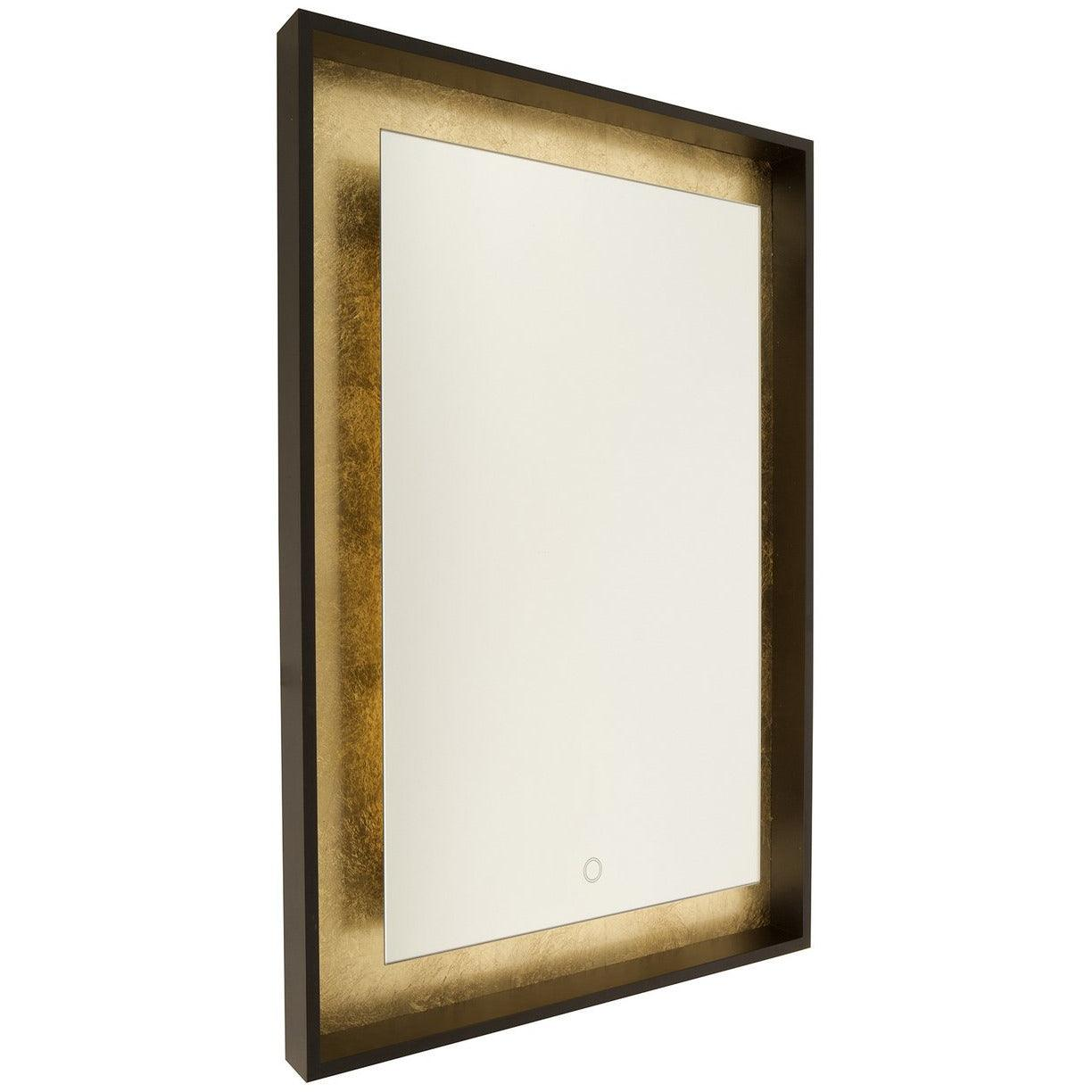 Artcraft Lighting - AM312 - LED Mirror - Reflections - Oil Rubbed Bronze & Gold Leaf