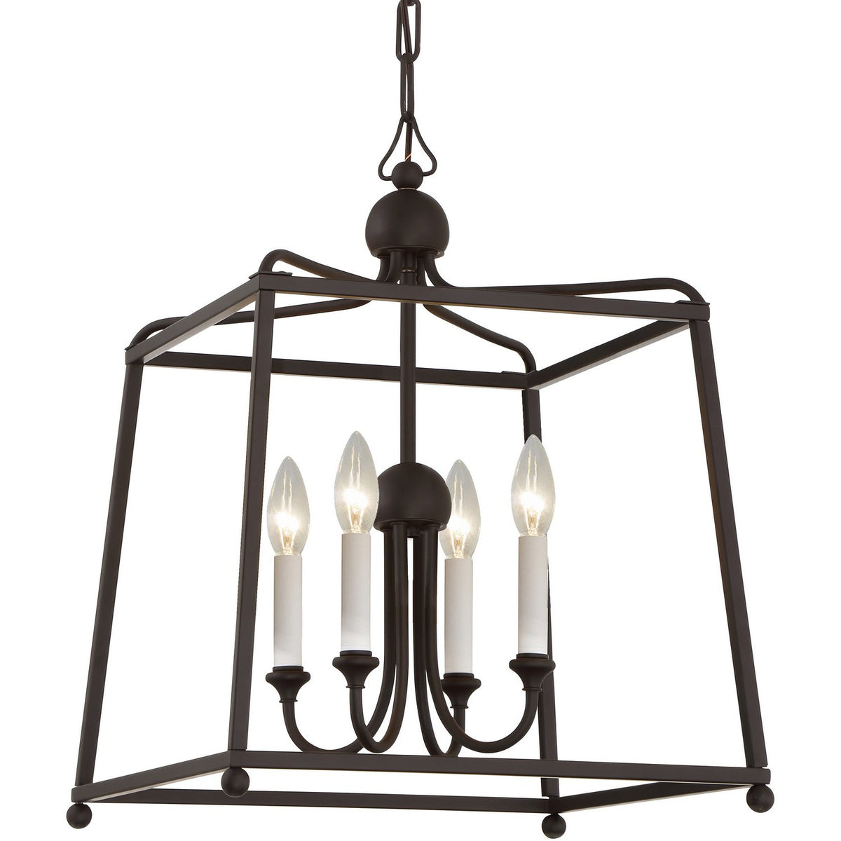 Crystorama - 2245-DB_NOSHADE - Four Light Chandelier - Sylvan - Dark Bronze