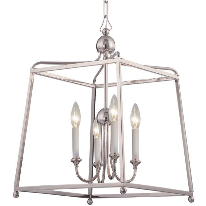 Crystorama - 2245-PN_NOSHADE - Four Light Chandelier - Sylvan - Polished Nickel