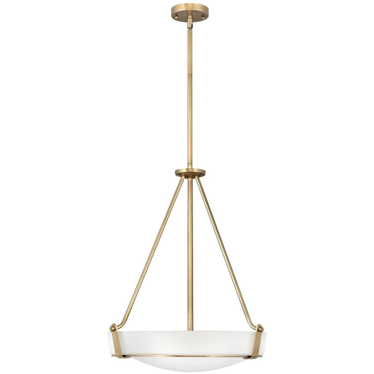 Hinkley Canada - 3222HB - Four Light Chandelier - Hathaway - Heritage Brass