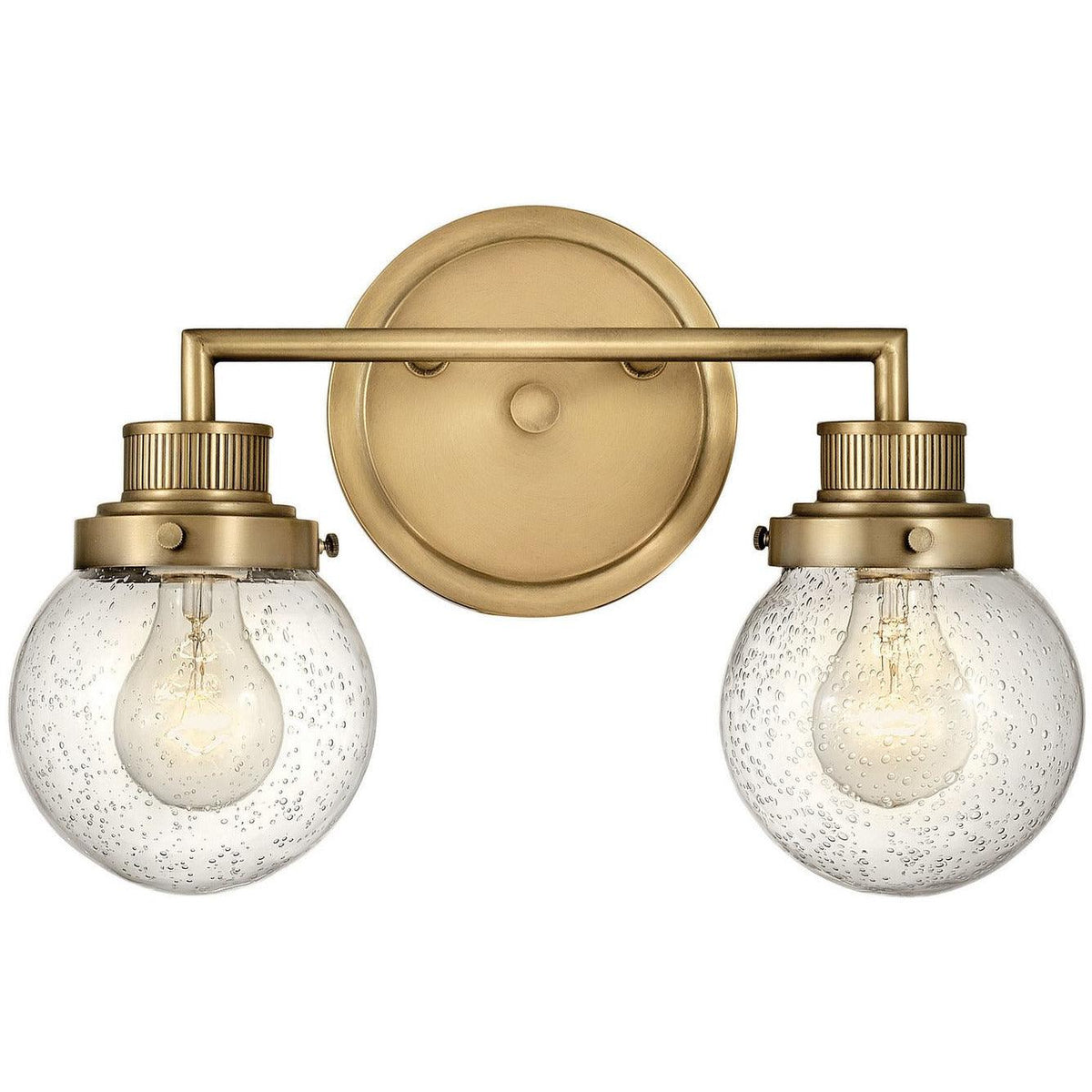 Hinkley Canada - 5932HB - Two Light Bath - Poppy - Heritage Brass