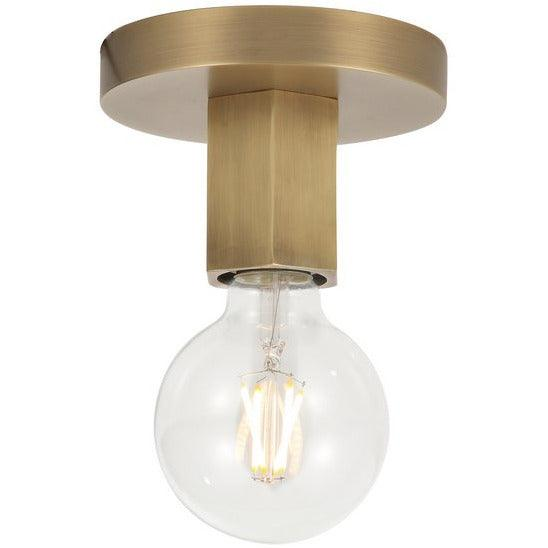 Alora Lighting - FM307001VB - Flush Mounts - Hexa - Vintage Brass