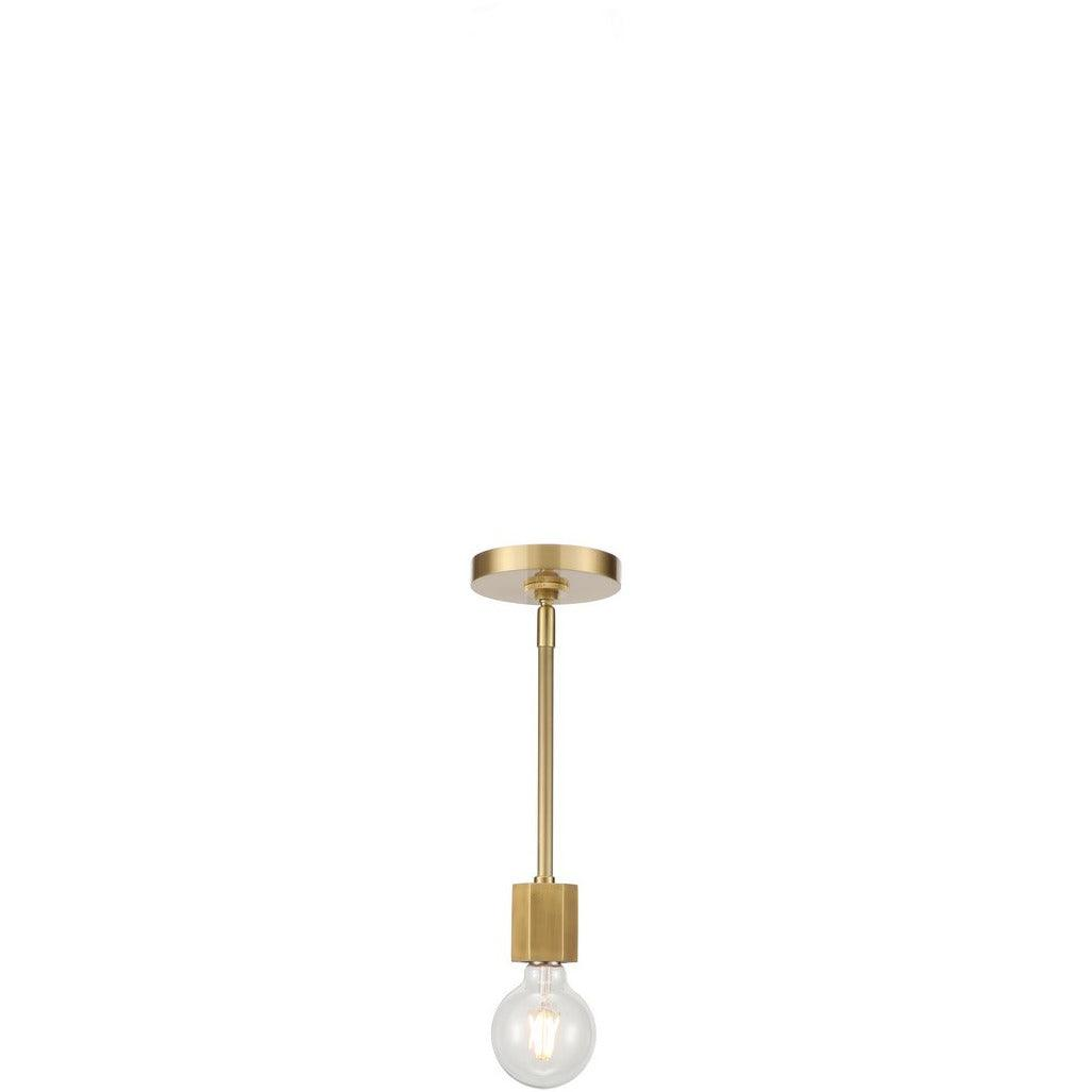 Alora Lighting - PD307001VB - Mini Pendants - Hexa - Vintage Brass