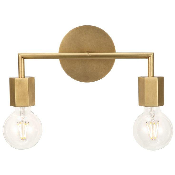 Alora Lighting - WV307002VB - Bath Vanity - Hexa - Vintage Brass
