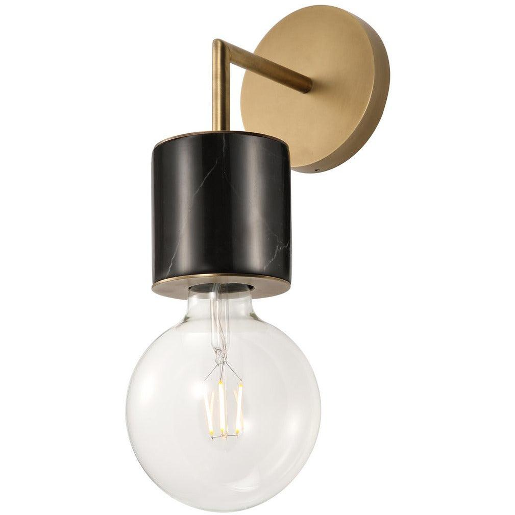 Alora Lighting - WV308001VBBM - Wall Sconces - Rocco - Vintage Brass/Black Marble