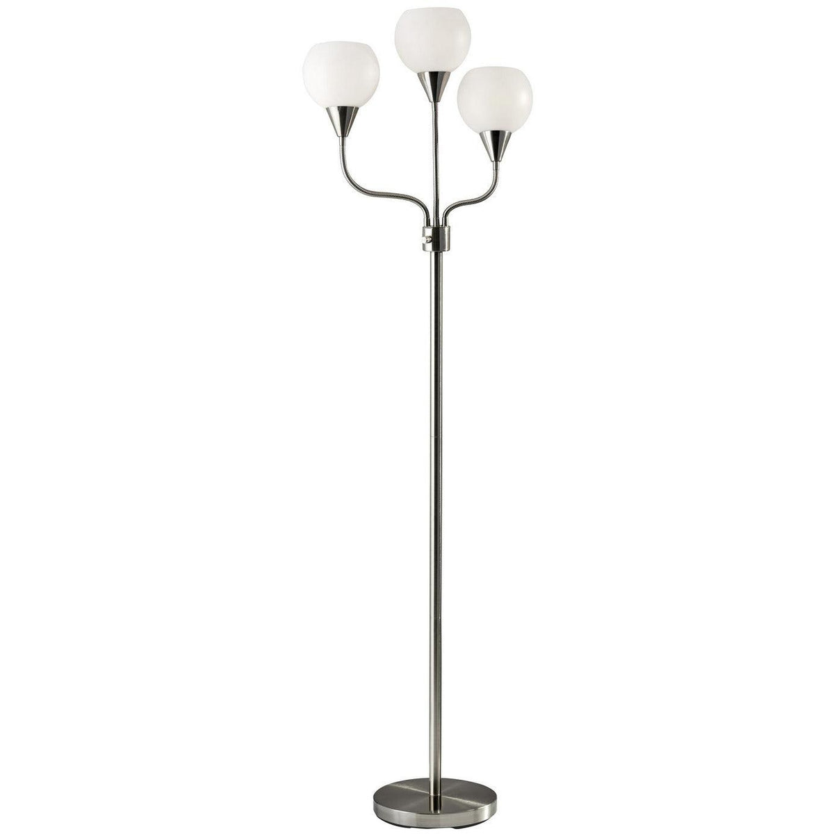 Adesso Home - 1534-22 - Three Light Table Lamp - Brushed Steel