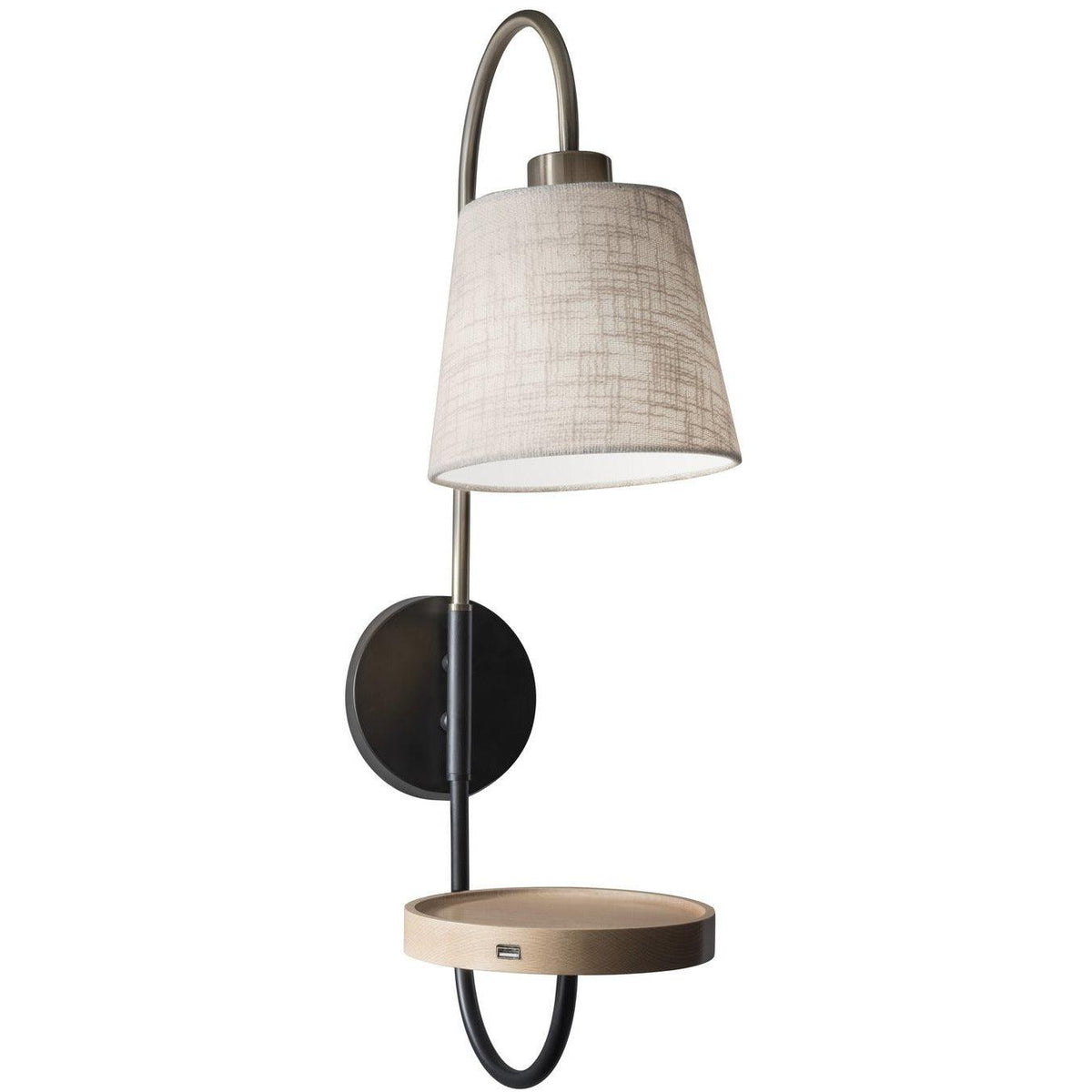 Adesso Home - 3406-21 - One Light Wall Sconce - Jeffrey - Black/Antique Brass