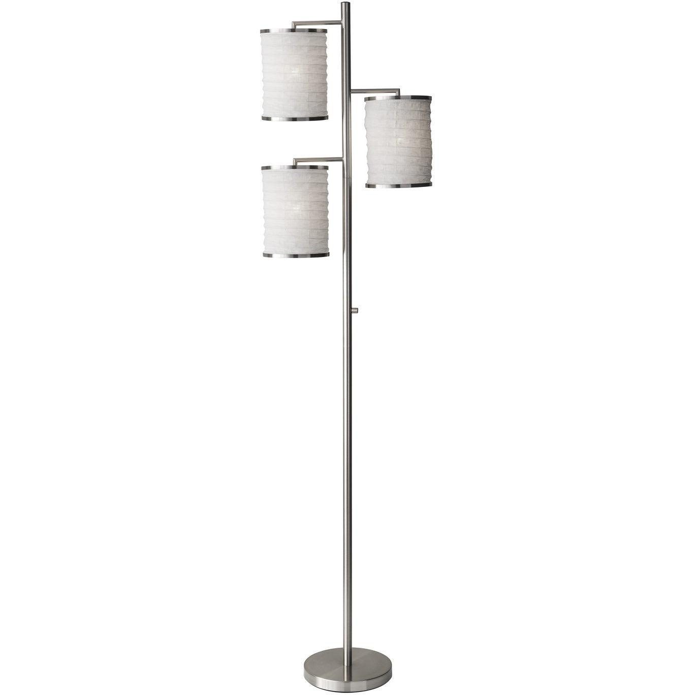 Adesso Home - 4152-22 - Three Light Floor Lamp - Bellows - Brushed Steel