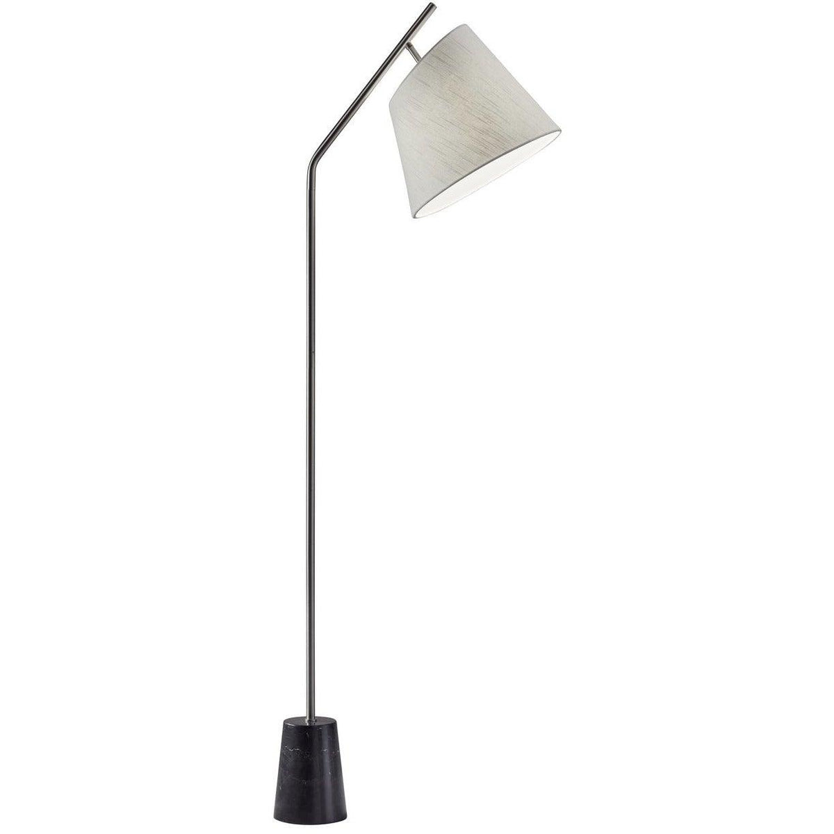 Adesso Home - 4194-22 - One Light Floor Lamp - Dempsey - Brushed Steel