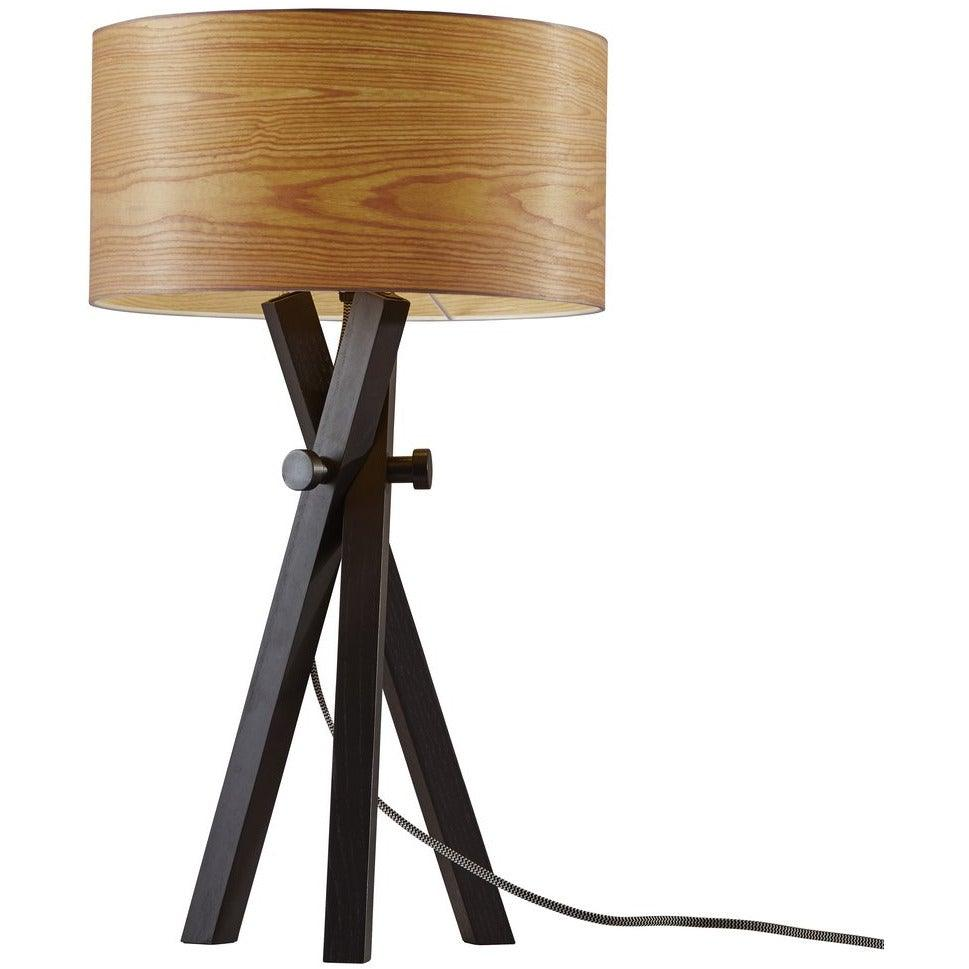 Adesso Home - 6206-01 - One Light Table Lamp - Bronx - Black Wood