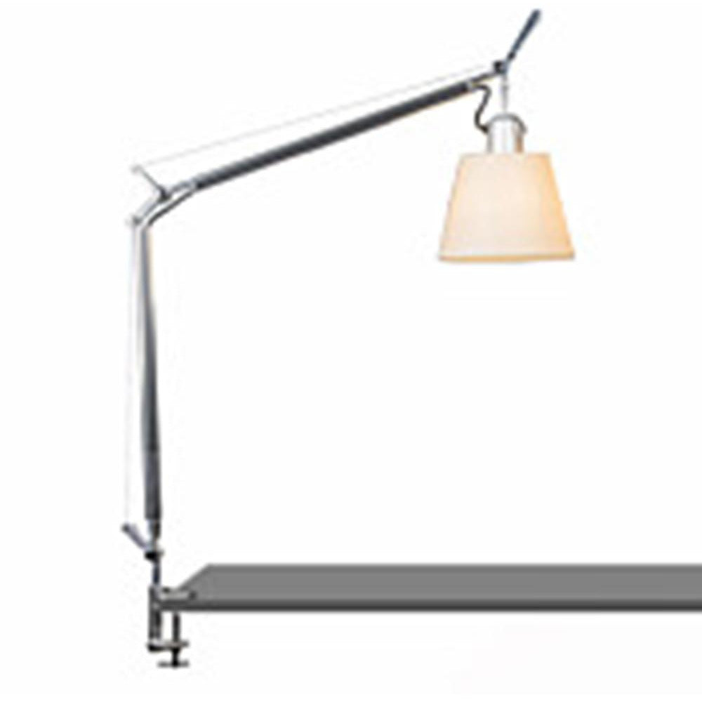 Artemide-Tolomeo-TLS0002-Tolomeo Table Lamp With Shade-Aluminum/Parchment
