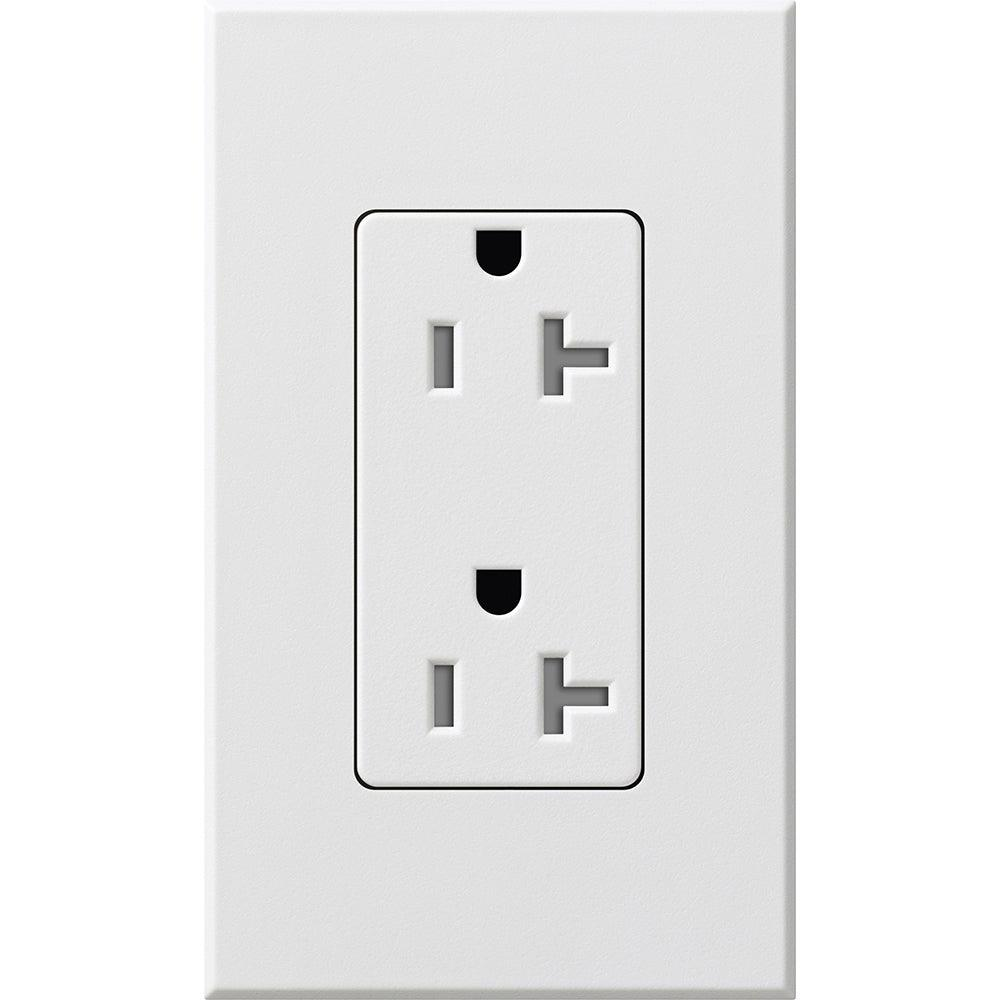 Lutron - SCRS-20-TR-SW - 20A Tamper Resistant Receptacle - Claro & Satin Colors - Snow