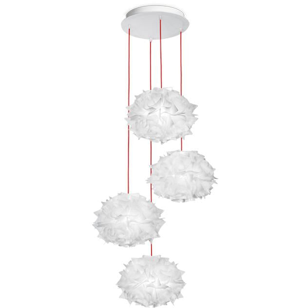 SLAMP - VEL78SOS1400BW000 - Couture Mini Quartet Suspension - Veli - White Decor