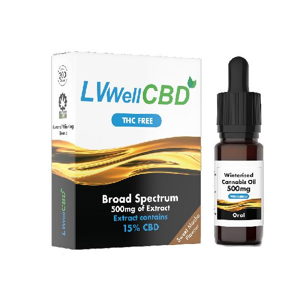 LVWell CBD 500mg Winterised  10ml Hemp Seed Oil - cbddirect2u.store