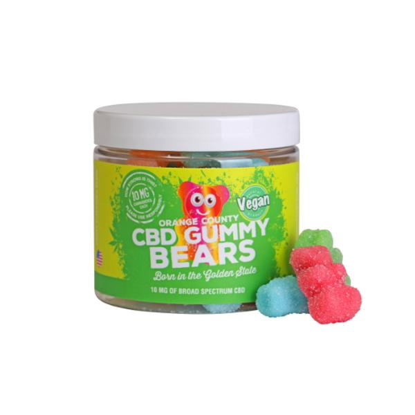 Orange County CBD 10mg Gummy Bears - Small Pack - cbddirect2u.store