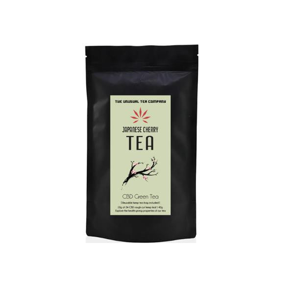 The Unusual Tea Company 3% CBD Hemp Tea - Japanese Cherry 40g - cbddirect2u.store