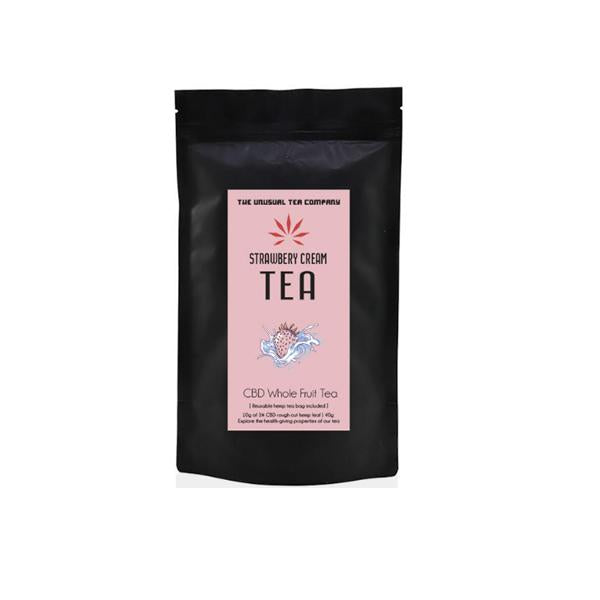 The Unusual Tea Company 3% CBD Hemp Tea - Strawberry Cream 40g - cbddirect2u.store