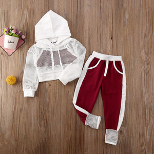 Baby Girl Mesh Tracksuit