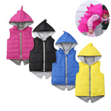 Kids Dinosaur Hooded Zip Vest
