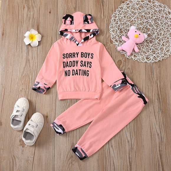 Baby Girl Animal Print Hooded Outfit