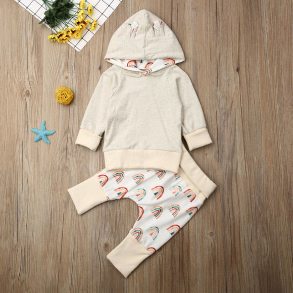Baby Rainbow Hooded Outfit