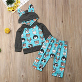 Baby Hooded Animal Print Outfit