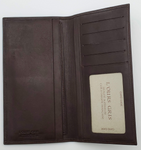L'OURS GRIS Brown Leather Long Wallet